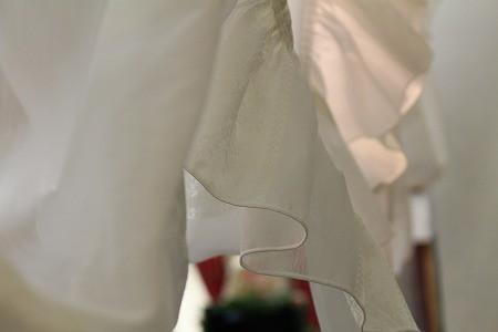 バルーンカーテンのフリル