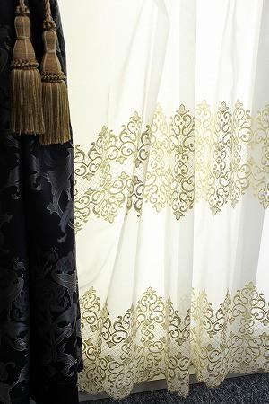 すそ刺繍トルコレースカーテン