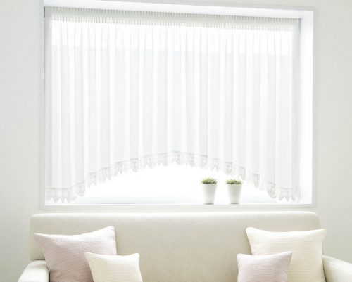 出窓カーテン アーチ型