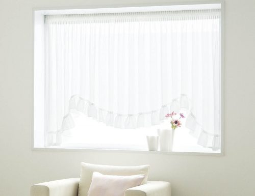 出窓カーテン M型