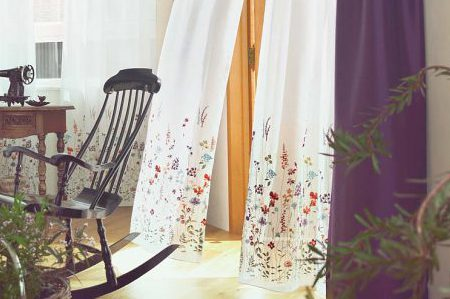デザインレ―スカーテン 刺繍 U4011