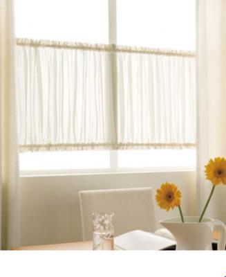 小窓用 カフェカーテン仕様 上下ギャザー