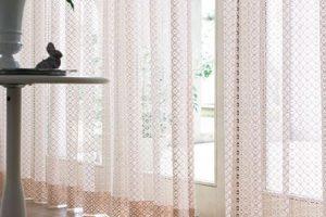 川島織物セルコン レース 透過 明るい
