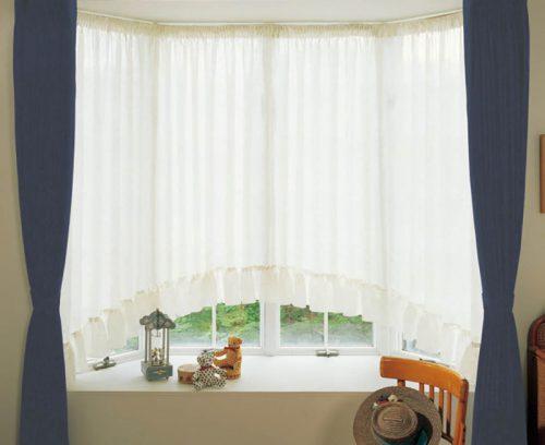 出窓 アーチ形カーテン スタイルカーテン