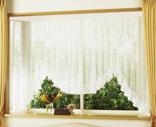 出窓 M型 スタイルカーテン