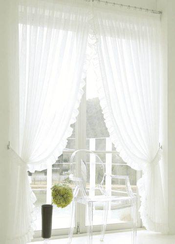 センタークロス スタイルカーテン フリル付きカーテン