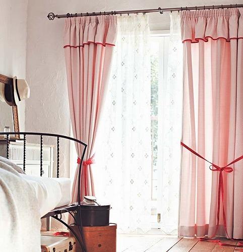 ピンク カーテン AC6059