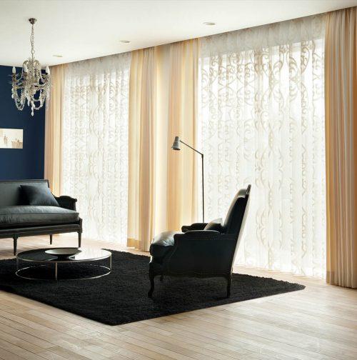 4m窓 開放感のある窓 大きな窓のカーテン