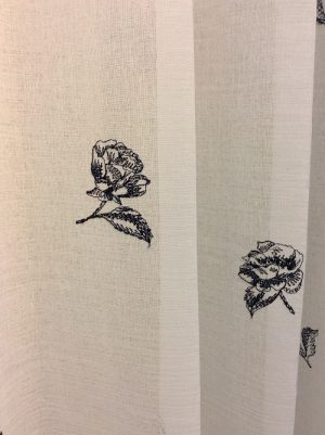 L3425 刺繍 レースカーテン