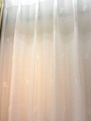 L3422 アイボリー 刺繍 レースカーテン