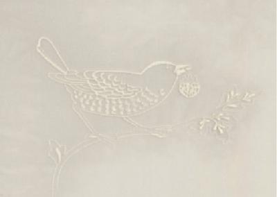 川島織物セルコン ウィリアムモリス いちご泥棒シアー